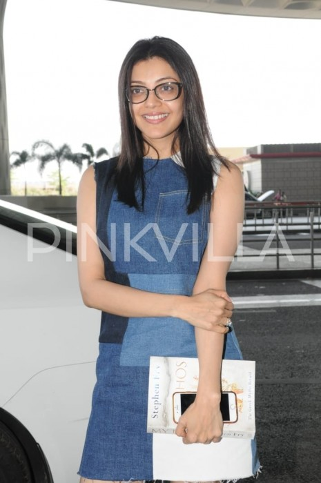 Photos: A geeky Kajal Aggarwal makes an appearance at the Mumbai airport