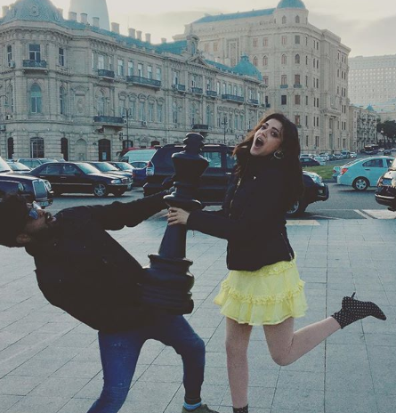 Photos: A lively Kajal Aggarwal chills in Azerbaijan