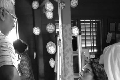 Photo: Mani Ratnam and Aditi Rao Hydari on the sets of Chekka Chivantha Vaanam