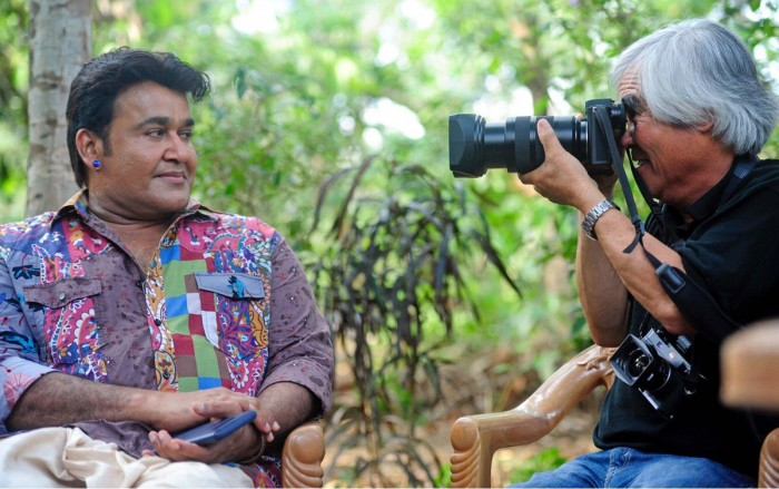 Mohanlal gets clicked by noted photographer Nick UT on the sets of Odiyan