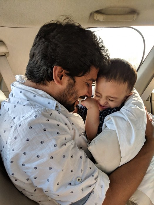 Photo: Nani wishes his 'little rascal' on his first birthday