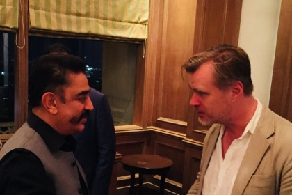 See Pic: Kamal Haasan meets Christopher Nolan who visiting India for the first time