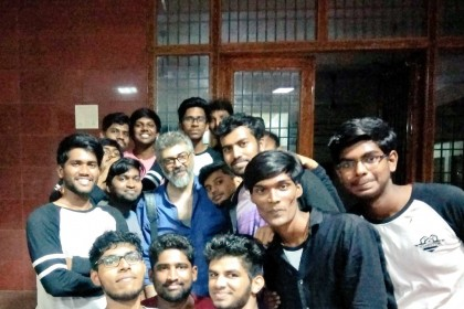 Photos: Ajith Kumar floors young students with his humility