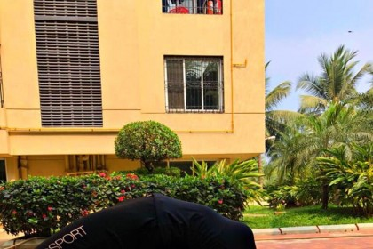 Photos: Tamannaah swings into Yoga Mode