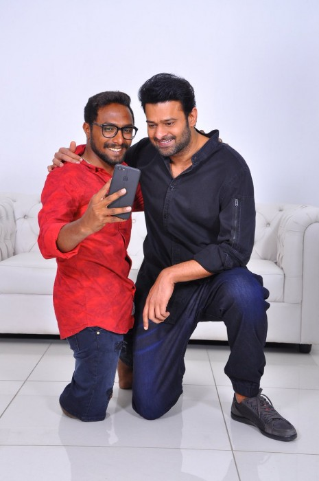 Prabhas meets his ardent fans in Hyderabad