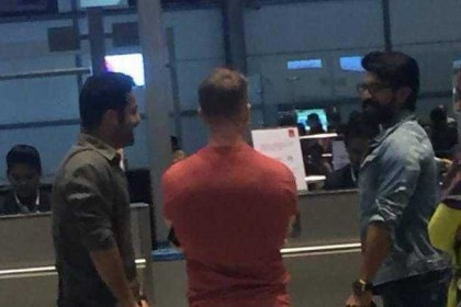 See Photo: Ram Charan and Jr NTR travel together to the US for their multi-starrer with SS Rajamouli