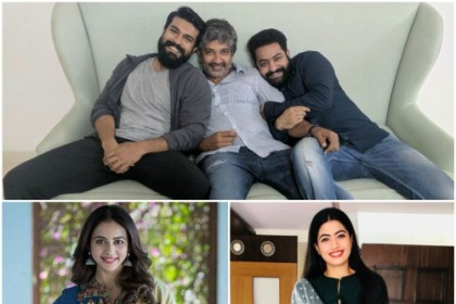 Rakul Preet and Rashmika Mandanna being considered for Rajamouli's multi-starrer with Jr NTR-Ram Charan?