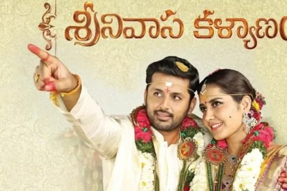 Raashi and Nithiin make a lovely pair in the First Look poster of Srinivasa Kalyanam