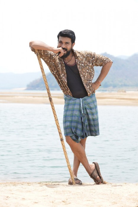 Ram Charan looks charming in the latest still from Rangasthalam
