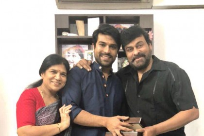 Photos: Ram Charan receives a 'timeless' gift from Chiranjeevi on his birthday
