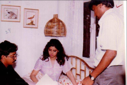 Ram Gopal Varma shares a photo with Sridevi from the sets of Kshana Kshanam