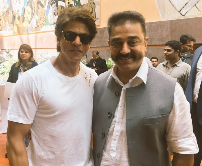 Photo: Hey Ram co-stars Shahrukh Khan and Kamal Haasan reunite after 18 years in this picture