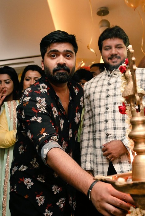 A dashing Simbu attends the launch of a salon