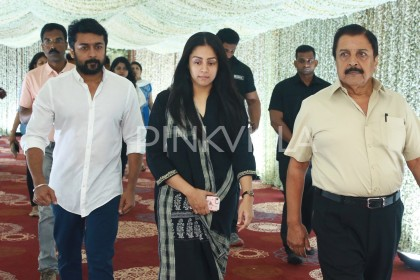 Photo: Suriya and Jyothika attend Sridevi's prayer meet