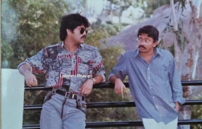 This throwback pic of RGV and Nagarjuna after Shiva's script narration will bring back memories
