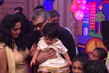 Thala Ajit and Shalini's son Aadvik celebrates his 3rd birthday, see PIC