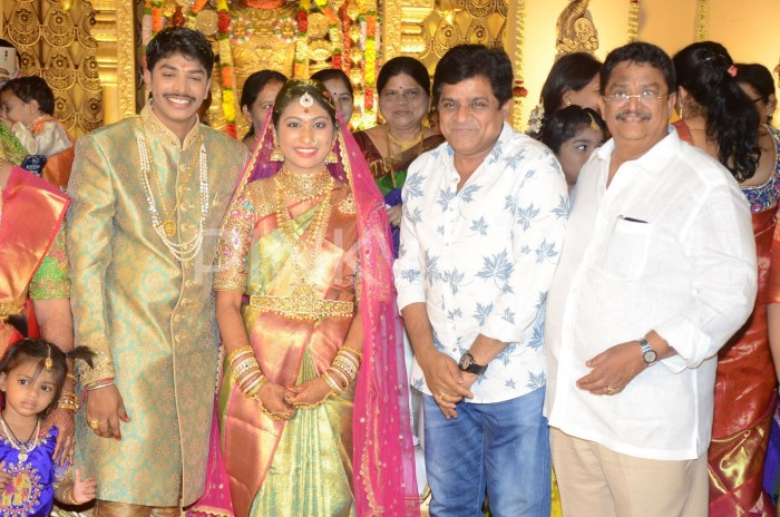 Photos: Chiranjeevi, Balakrishna and many Tollywood celebs attend the wedding of producer C Kalyan's son