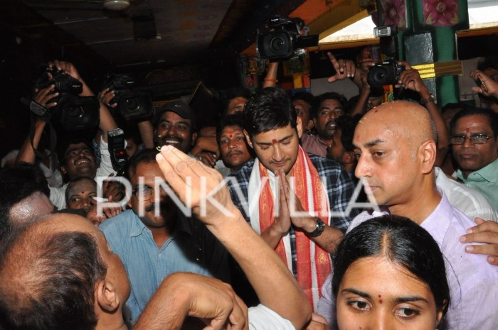Photos: Bharat Ane Nenu actor Mahesh Babu seeks blessings at Durga temple in Vijayawada!