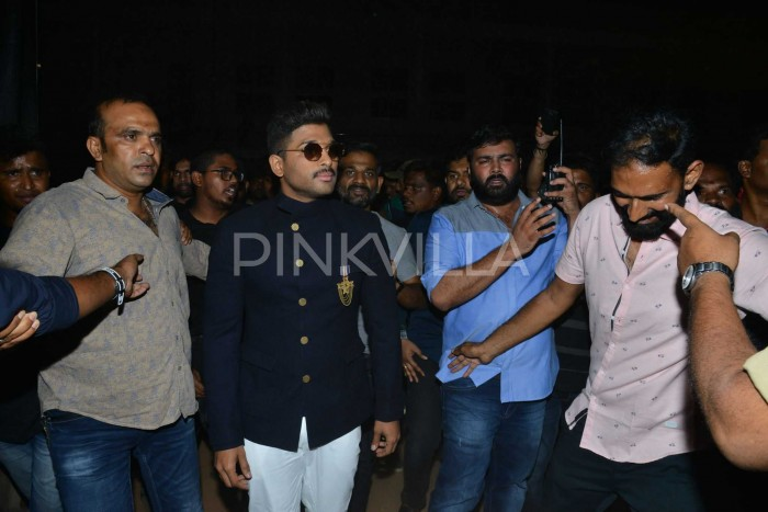 Photos: Ram Charan graces the pre-release event of Allu Arjun starrer Naa Peru Surya