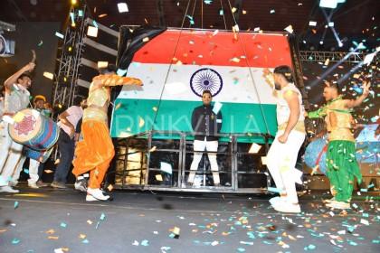 Photos: Ram Charan graces the pre-release event of Allu Arjun starrer Naa Peru Surya