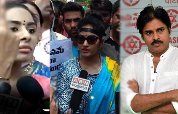 Madhavi Latha arrested over her protest against Sri Reddy for abusing Pawan Kalyan