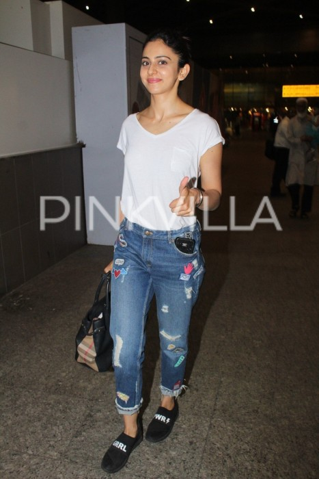 Airport diaries: Rakul Preet Singh returns to Mumbai after wrapping up the first schedule of Suriya's NGK