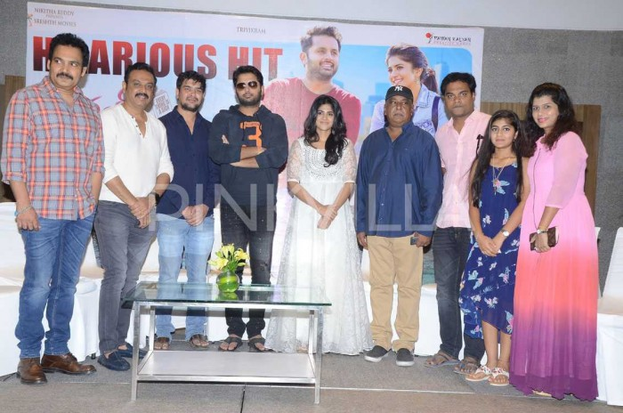 Photos: Nithiin, Krishna Chaitanya, Megha Akash and other cast celebrate the success of Chal Mohan Ranga
