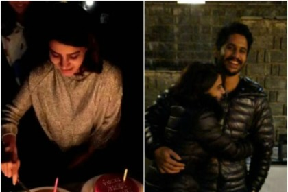 Photos: Samantha Akkineni rings in her birthday with hubby Naga Chaitanya in Kashmir