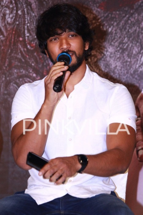 Photos: Gautham Karthik at Iruttu Arayil Murattu Kuththu promotions!