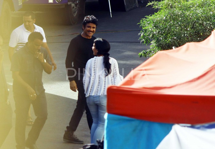Photos: Akkineni Nagarjuna spotted on the sets of his upcoming film in Mumbai