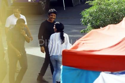Photos: Akkineni Nagarjuna spotted on the sets of his upcoming film in Mumbai