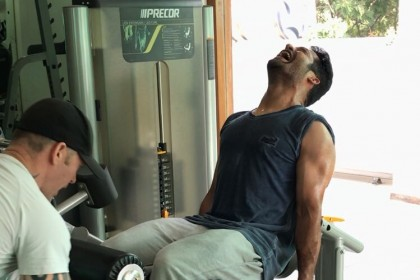 Jr NTR sweats it out for his film with Trivikram Srinivas