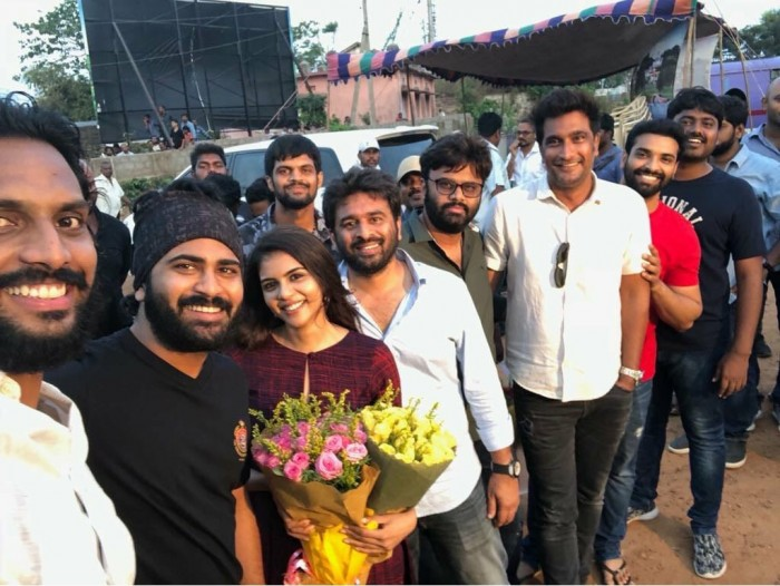 Kalyani Priyadarshan starts shooting for her second film starring Sharwanand and directed by Sudheer Varma