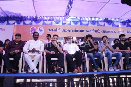 Photos: Kamal Haasan and Rajinikanth come together to protest the Sterlite situation and the Cauvery issue