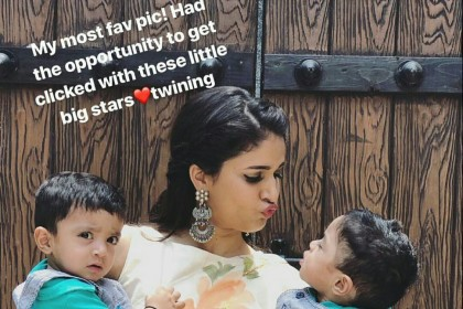 See Pic: Internet loves this picture of Lavanya Tripathi with two little stars