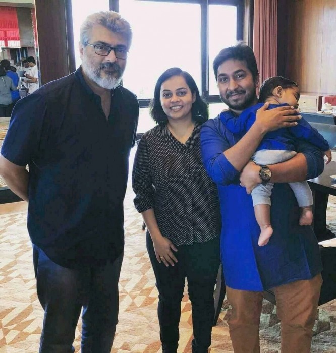 Photo: Malayalam actor Vineet Sreenivasan meets 'Thala' Ajith