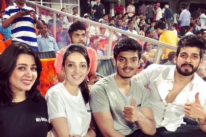 Photos: Team Mehbooba promote their film at the IPL match between Sunrisers Hyderabad and Mumbai Indians