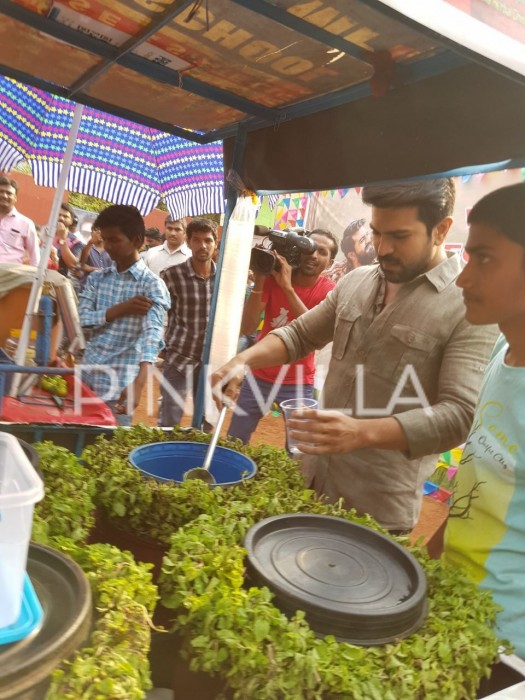 Ram Charan was spotted selling ice-creams and soda for raising money f