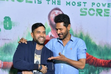 Photos:Karthik Subbaraj, Prabhu Deva in all smiles at mercury promotions!