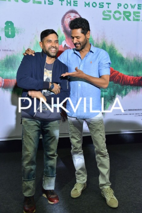 Photos: Karthik Subbaraj, Prabhu Deva in all smiles at Mercury promotions!