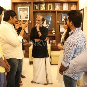 Rajinikanth meets the cast and crew of Mercury; Praises the film in his style, See Photos!