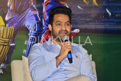 Photos: Jr NTR attends the IPL press conference in Hyderabad