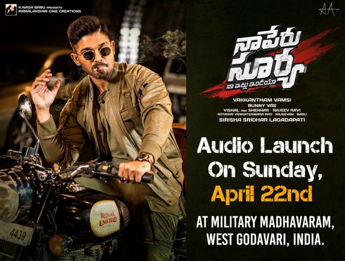 Audio launch of Allu Arjun starrer Naa Peru Surya to take place at a special location with military connection