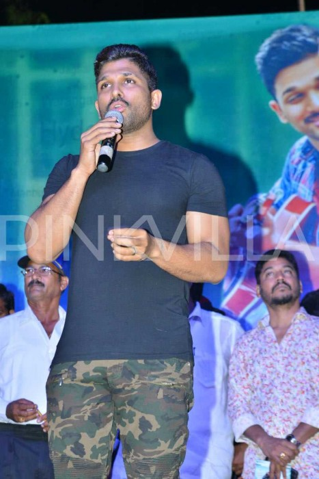 Allu Arjun gets emotional about Pawan Kalyan at Naa Peru Surya audio launch