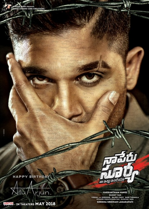 Naa Peru Surya poster: Allu Arjun's intensity is hard to miss