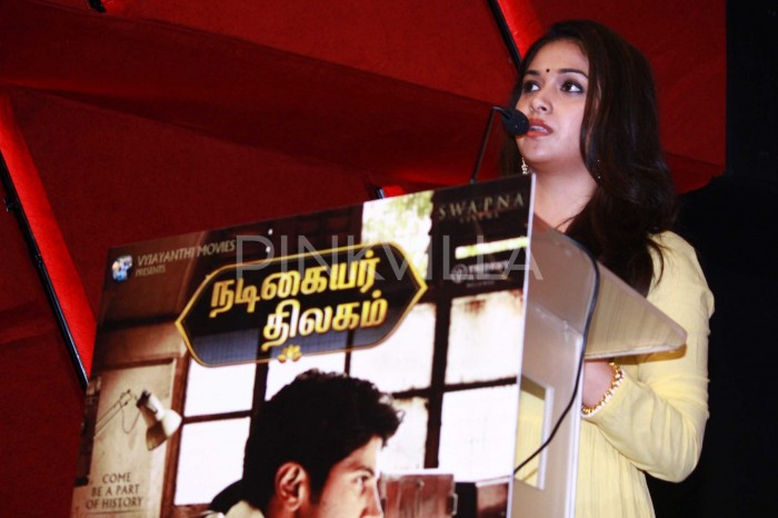 Photos: Keerthy Suresh, lyricist Madhan Karky and producer Aswini Dutt promote Nadigaiyar Thilagam