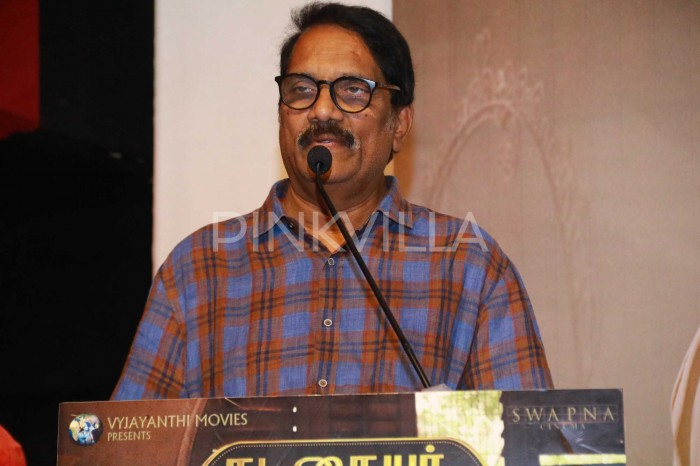 Photos: Keerthy Suresh, lyricist Madhan Karky and producer Aswini Dutt promote Nadigaiyar Thilagam