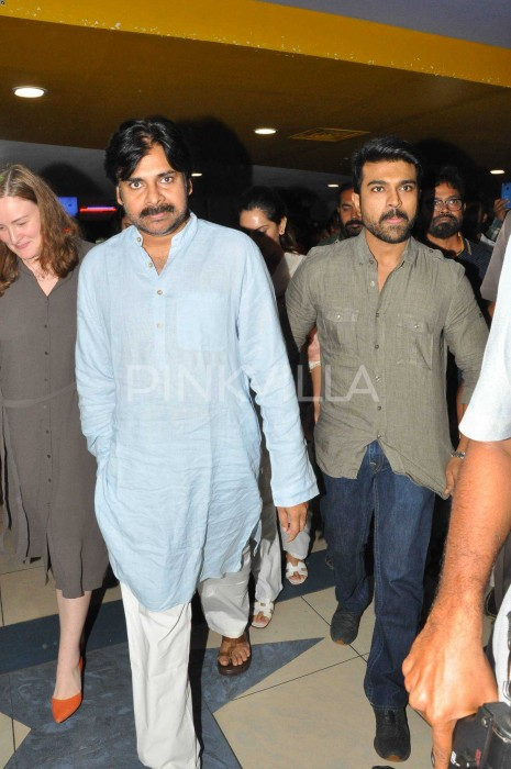 Photos: Pawan Kalyan watches Ram Charan's Rangasthalam and heaps praises