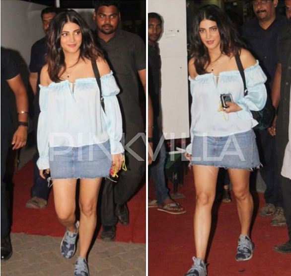 Photos: A lovely Shruti Haasan spotted in Mumbai