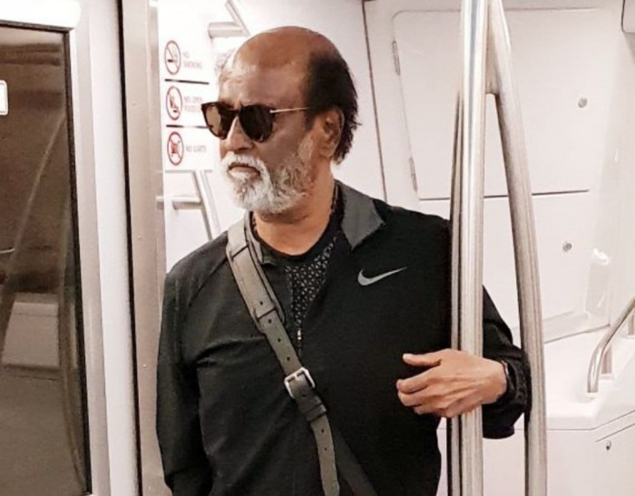 Superstar Rajinikanth lands in the US and photos from the airport are going viral